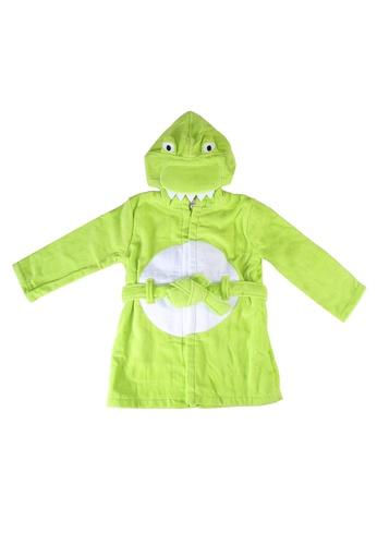 Du Pareil Au Même (DPAM) green Hooded Bath Robe 4D1C0KCFDE8631GS_1