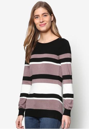 色塊條esprit專櫃紋長袖衫, 服飾, 服飾