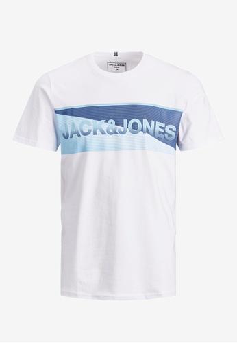 Jack & Jones white Jenson Organic Cotton Tee 96CD0KA6979D85GS_1