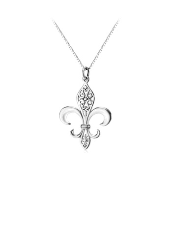 Glamorousky silver 925 Sterling Silver Creative Carved Geometric Pendant with Necklace 5B4CBACCA4D089GS_1