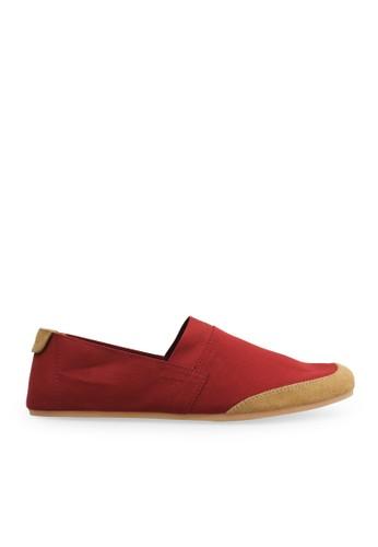 Minarno red Red Canvas Slip-On NB05 MI641SH44GUDID_1