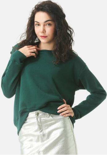 London Rag green Sweatshirt With Shoulder Lace Loop DE0ECAAB35F2DCGS_1