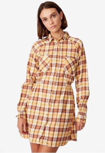 Cotton On multi Woven Check Shirt Dress 8B7B1AA8E4343CGS_1