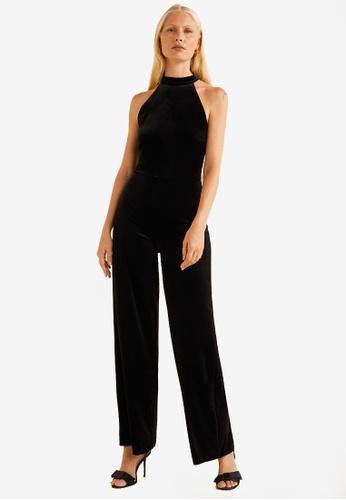 Mango black Velvet Long Jumpsuit 6DBBDAA3813178GS_1