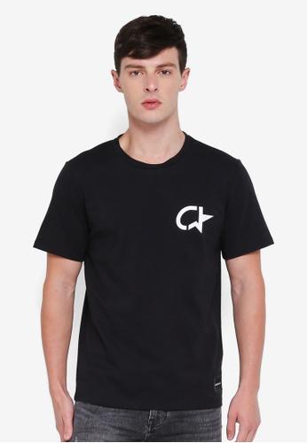 Calvin Klein 黑色 Modernist Regular Short Sleeve Tee - Calvin Klein Jeans 7B6D2AAF23E5E2GS_1