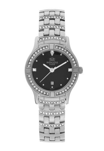 Roscani silver Roscani Emilia B63 (Triangle Wave Dial) Stainless Steel Black Bracelet Women Watch BB455AC5798B60GS_1