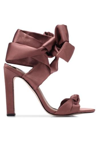 River Island pink Satin Tie Up Heels RI009SH0S740MY_1