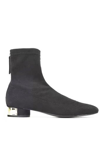 Twenty Eight Shoes black Synthetic Suede Metallic Heel Boots 3096 E6F4ASH345BAD8GS_1