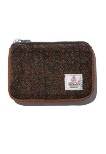 The Earth brown Harris Tweed Card Wallet- Brown (new) TH763AC18GSZHK_1