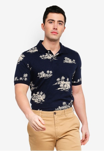 1b90fe6b9 Shop Brooks Brothers Red Fleece Print Hawaiian Polo Shirt Online on ZALORA  Philippines