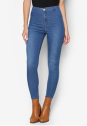 TOPSHOP blue MOTO Mid Blue Joni Jeans TO412AA86JSVMY_1