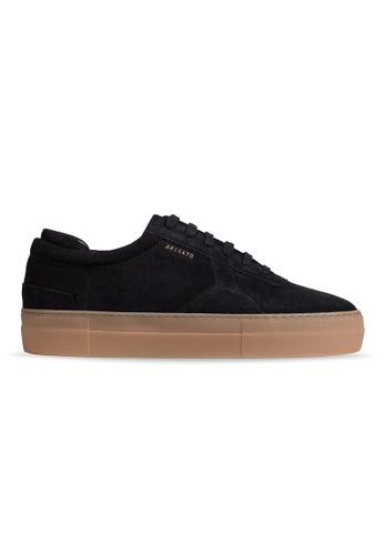 Axel Arigato Platform Sneaker 黑色麂皮搭配奶油底 0CECASHED859D2GS_1
