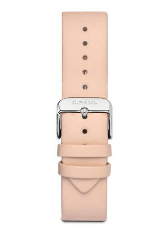 43mm 皮革esprit outlet 台灣錶帶, 錶類, 皮革錶帶