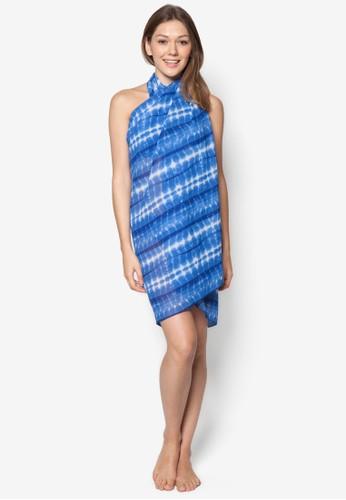 esprit官網Azul 印花沙灘巾, 服飾, 泳裝及沙灘造型