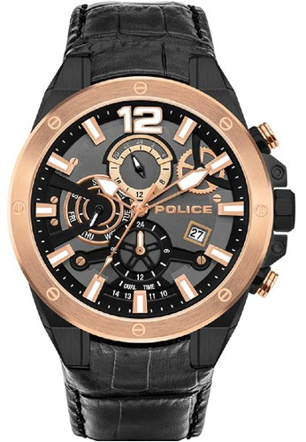 Police black and gold Jam Tangan Pria Kulit Police PL.15711JSBR61 6ACB7ACD99A9A0GS_1