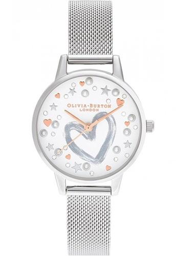 Olivia Burton silver Olivia Burton You Have My Heart SILVER Women's Watch (OB16LH12) 5F14DAC3C0B645GS_1