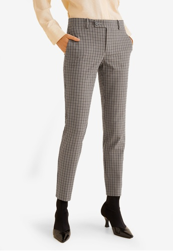 2c45114d2db Mango brown Check Wool Suit Trousers F0575AA39E170BGS 1