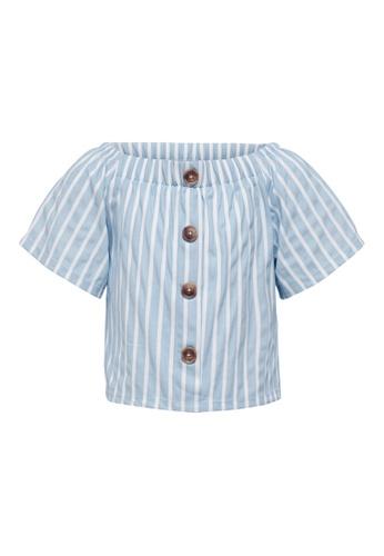 ONLY blue Jany Short Sleeve Top DCF29KAD50A0B2GS_1