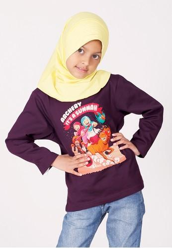Afrakids red and purple Afrakids Archery It's Sunnah T-Shirt 44616KA1C91D33GS_1
