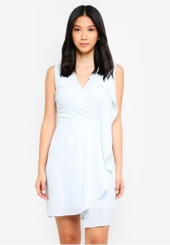ZALORA blue Draped Panel Dress 10F2FAAF55AE44GS_1