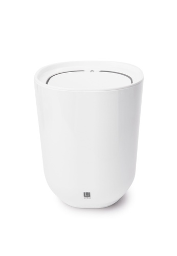 Umbra white Step Waste Can with Lid 7E7BEHL97BAF77GS_1
