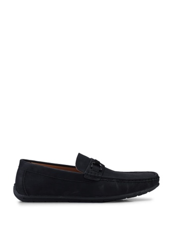Louis Cuppers black Faux Leather Buckle Loafers 913EFSH752CF27GS_1