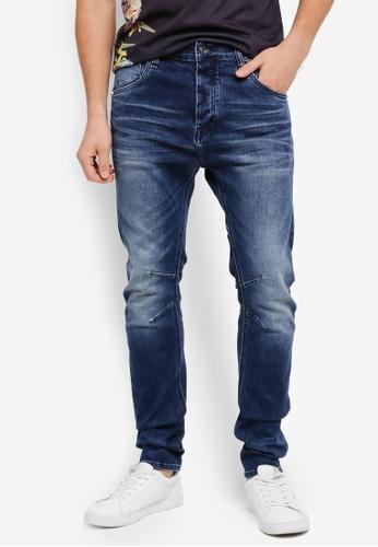 CR7 藍色 時尚修身牛仔褲 CR532AA0SYI1MY_1