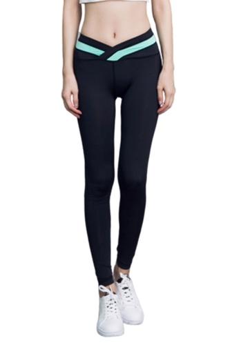 B-Code green ZYG3032-Lady Quick Drying Running Fitness Yoga Sports Leggings -Green EC48EAA4880F6CGS_1