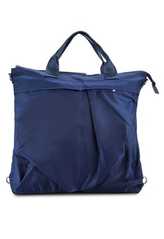 【ZALORA】 簡約尼龍筆電後背包