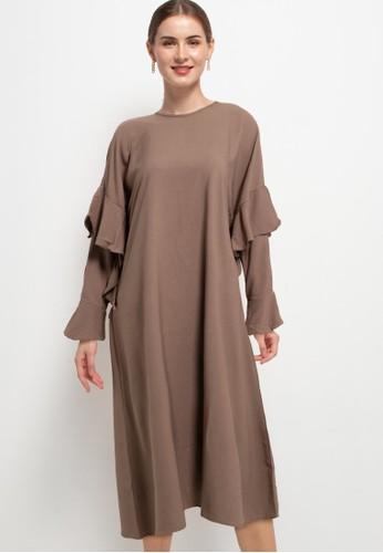 Covering Story brown Lehana Dress - A 29C0DAA4C3E59CGS_1