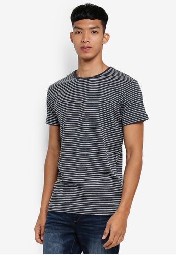 !Solid navy Nimat Striped T-Shirt 702D0AA98D67A9GS_1