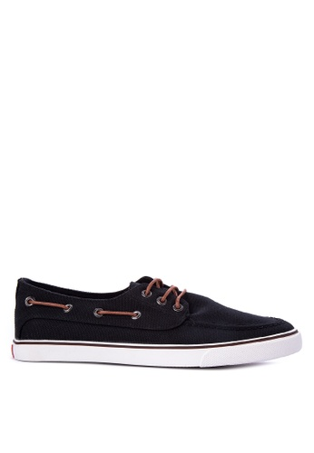 Italianos black Jerry Boat Shoes IT153SH40BJZPH_1