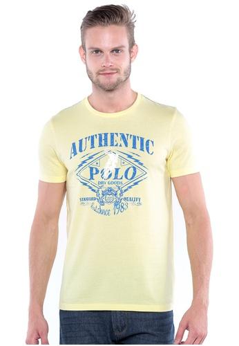 POLO HAUS yellow Polo Haus - Round Neck Tee (Light Yellow) PO783AA60AIPMY_1