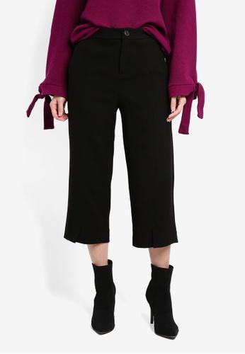 ESPRIT black Woven Cropped Pants ES374AA0SEOJMY_1
