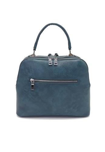 Lara blue Women's PU Leather Zipper Handbag Cross-body Bag - Blue 57BCDACBF6C1C1GS_1