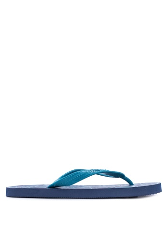BENCH blue Printed Rubber Slippers BE550SH17LTEPH_1