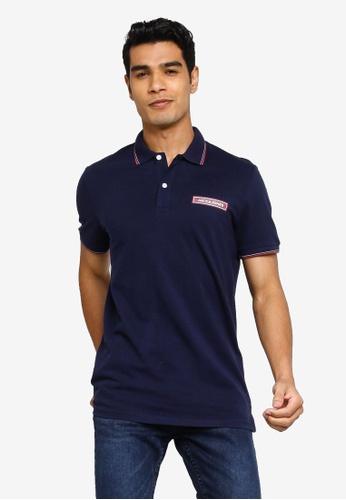 Jack & Jones navy Londons Short Sleeve Polo Shirt 6F1C8AA4F695C9GS_1