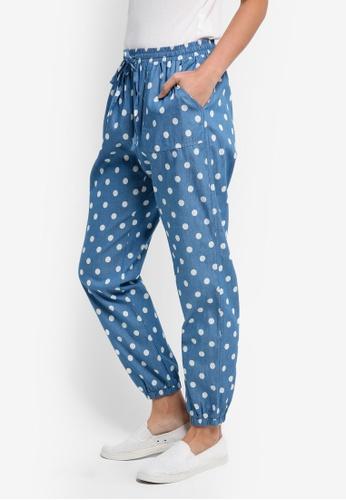 ZALORA blue Jogger Pants A45C0AAC4B5688GS_1