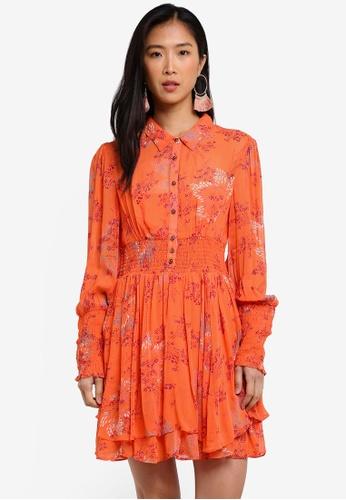 Free People orange Fake Pretend Mini Dress FR659AA0RWNEMY_1