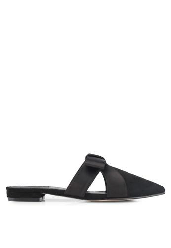 ZALORA black Bow Slip on Flats 22C22SH78A286AGS_1