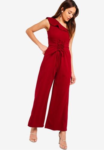 ZALORA red Asymmetric Jumpsuit 5B8FBAA4758215GS_1
