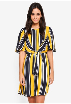 51df7ab5cf1 Dorothy Perkins yellow Yellow And Navy Stripe Dress 162C1AA52F9576GS 1