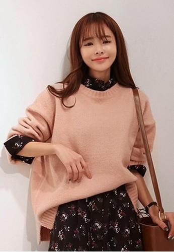 新穎粉色針織上衣, 服飾, 毛zalora時尚購物網的koumi koumi衣& 針織外套