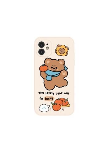 Kings Collection white Cute Bear iPhone 12 Case 4BAA7ACACD36B6GS_1