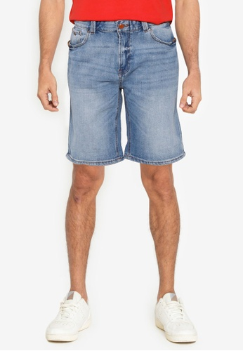 Springfield blue Medium Wash Denim Bermuda Shorts 79E2CAAFCD28C8GS_1