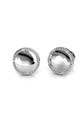 Her Jewellery silver Swarovski® Crystals - Elegance Cufflinks (18K White Gold Plated) Her Jewellery HE581AC0RDO1MY_1