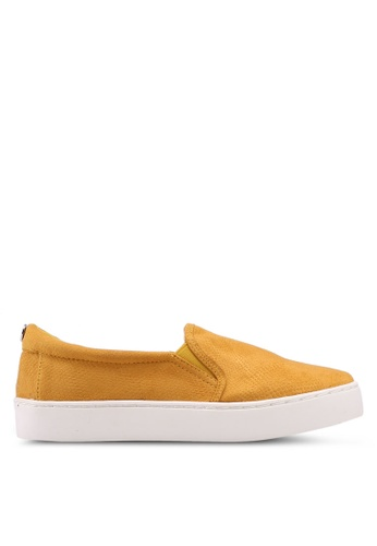 TOPSHOP yellow Yellow Taylor Slip On Trainers ACAC9SH807117FGS_1