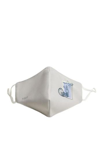 Mango grey Reusable Homologated Facemask BFC0DES05A6B9AGS_1