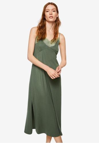 Mango green Modal Camisole Dress 29332AA7DE18C6GS_1