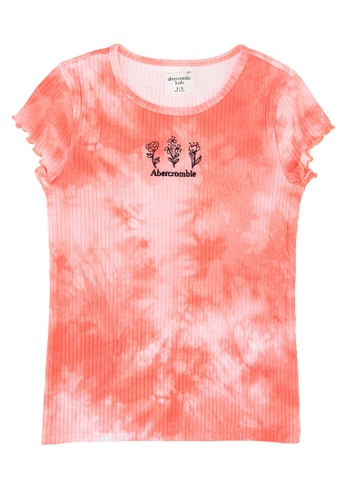 Abercrombie & Fitch orange Moost Have Baby Tee 27C96KA93478C0GS_1